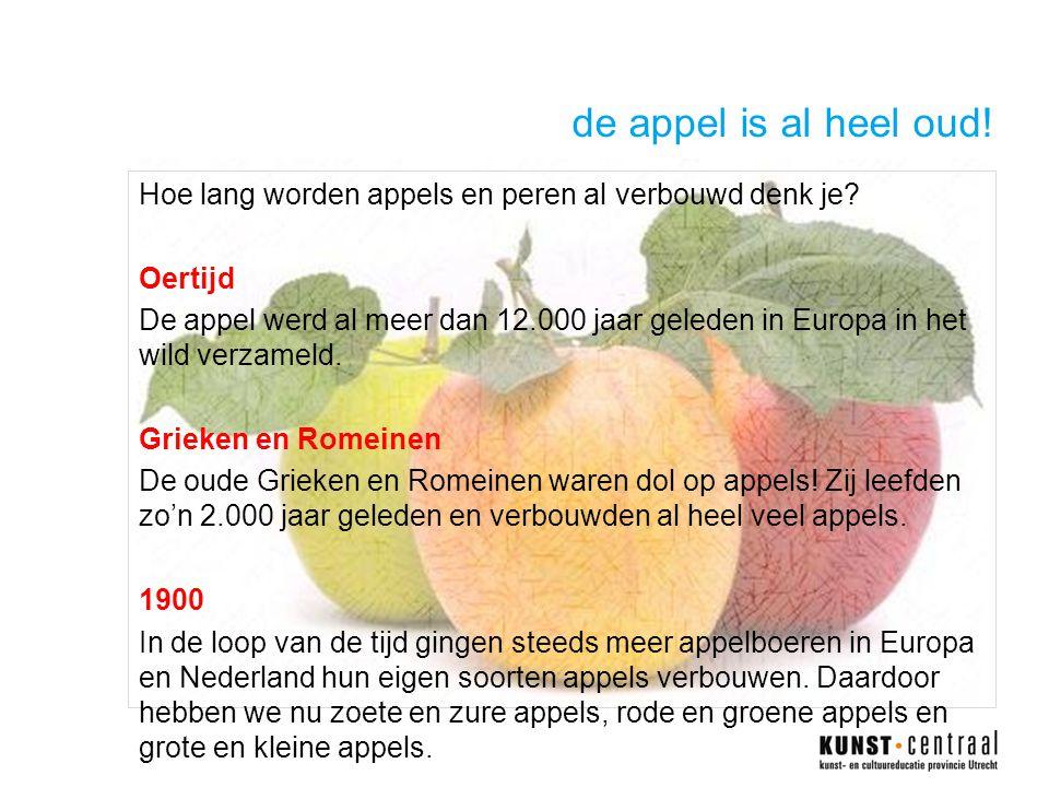 de appel is al heel oud!