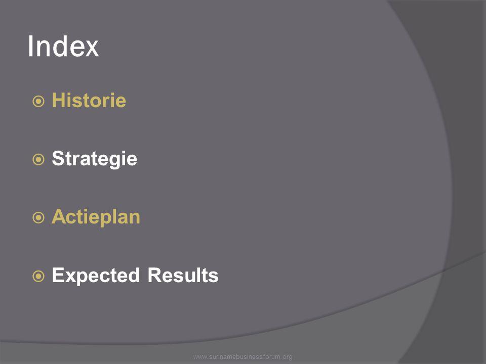 Index Historie Strategie Actieplan Expected Results