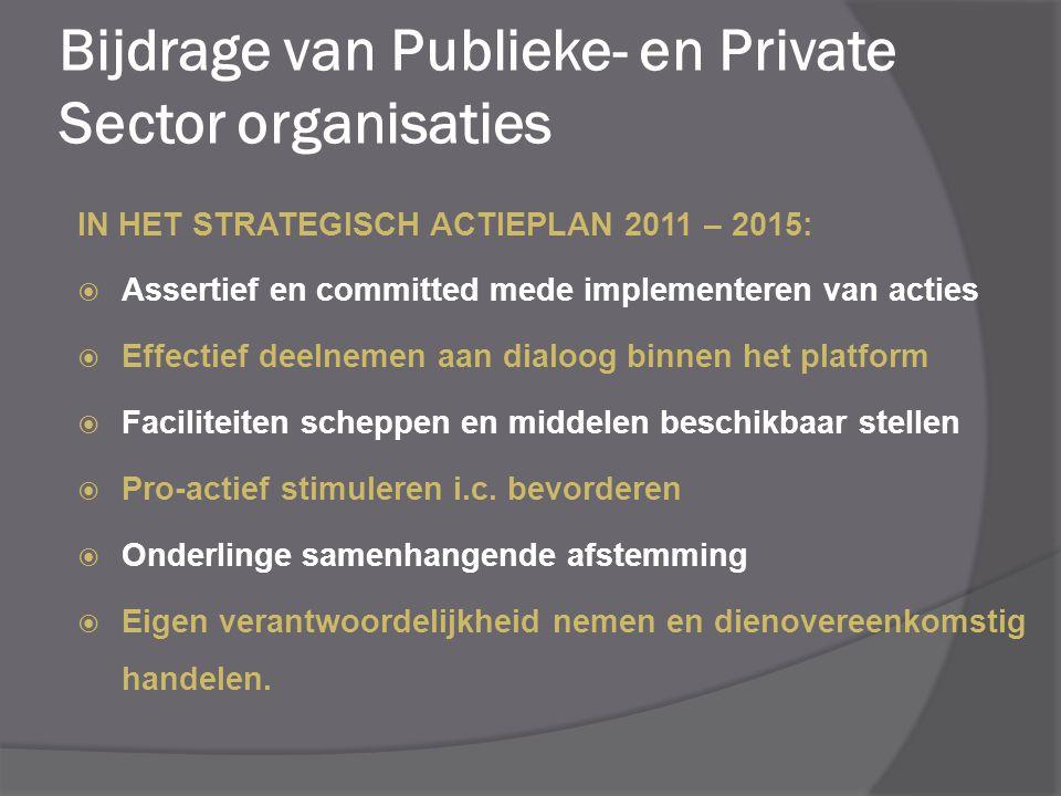 Bijdrage van Publieke- en Private Sector organisaties