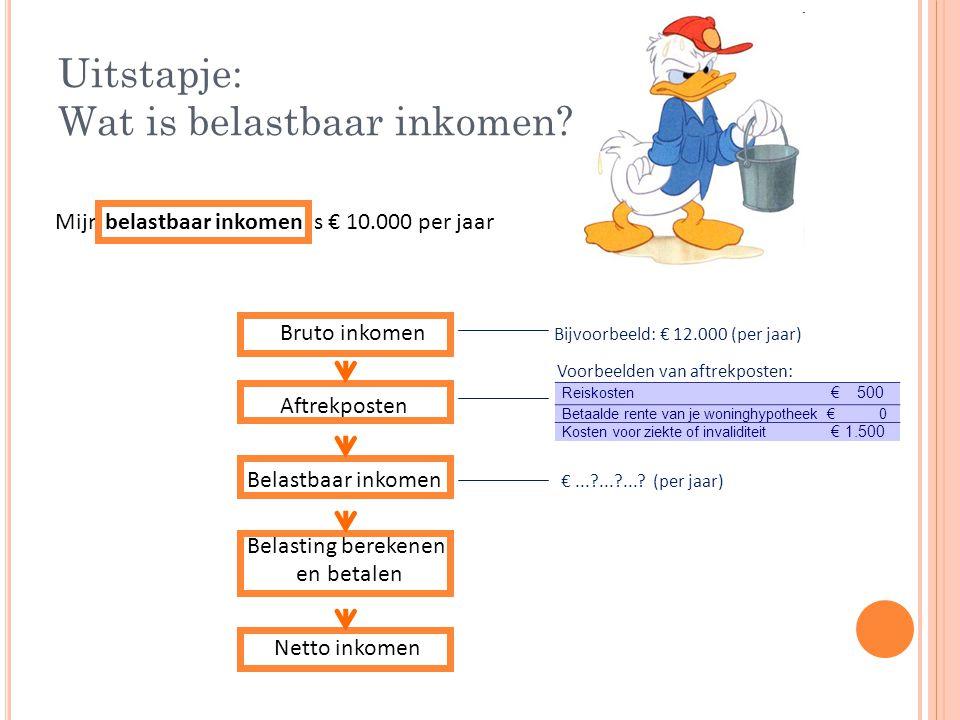 Uitstapje: Wat is belastbaar inkomen