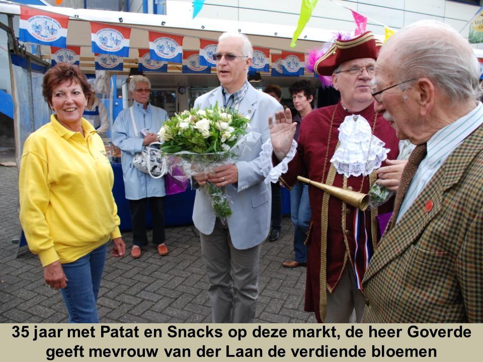 35 jaar met Patat en Snacks op deze markt, de heer Goverde