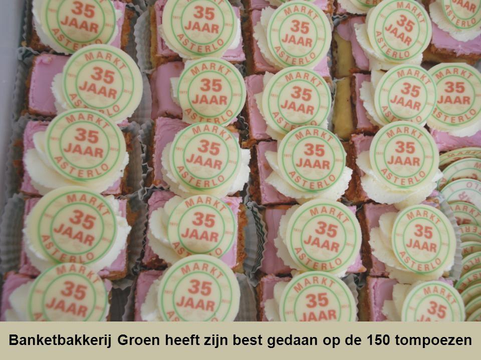 Banketbakkerij Groen heeft zijn best gedaan op de 150 tompoezen