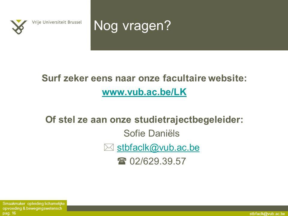 Surf zeker eens naar onze facultaire website: