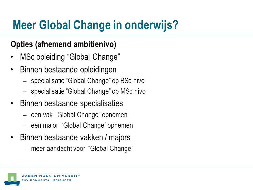 Meer Global Change in onderwijs