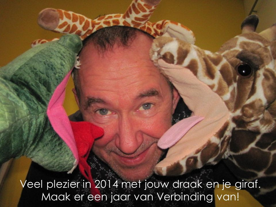 Veel plezier in 2014 met jouw draak en je giraf.