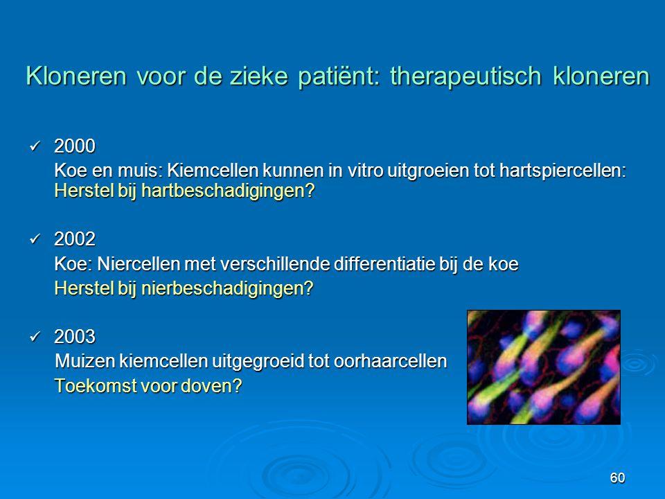 Kloneren voor de zieke patiënt: therapeutisch kloneren