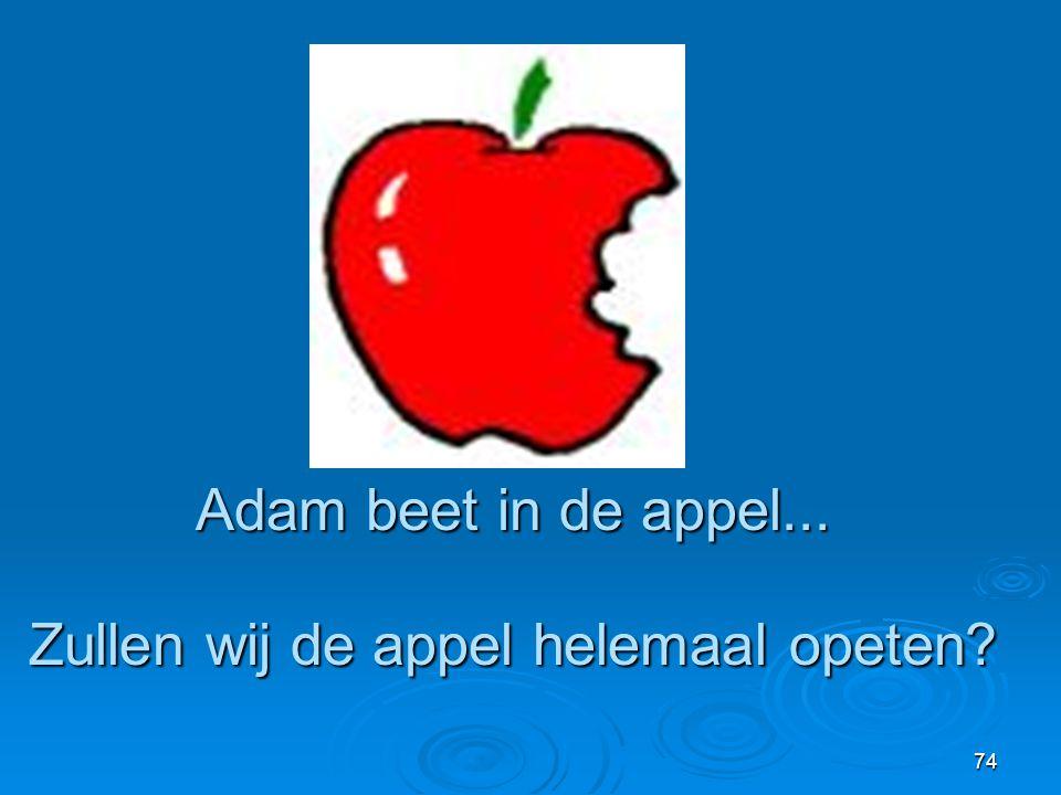 Zullen wij de appel helemaal opeten
