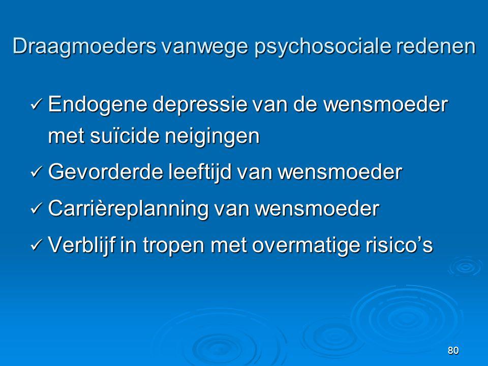 Draagmoeders vanwege psychosociale redenen