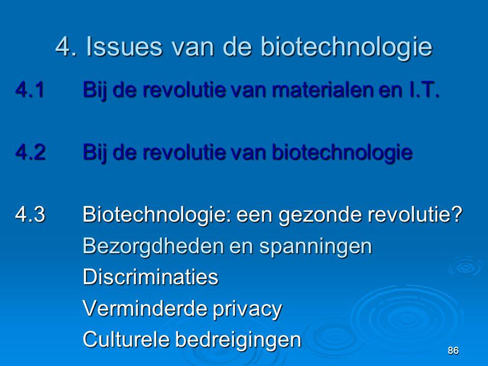 4. Issues van de biotechnologie
