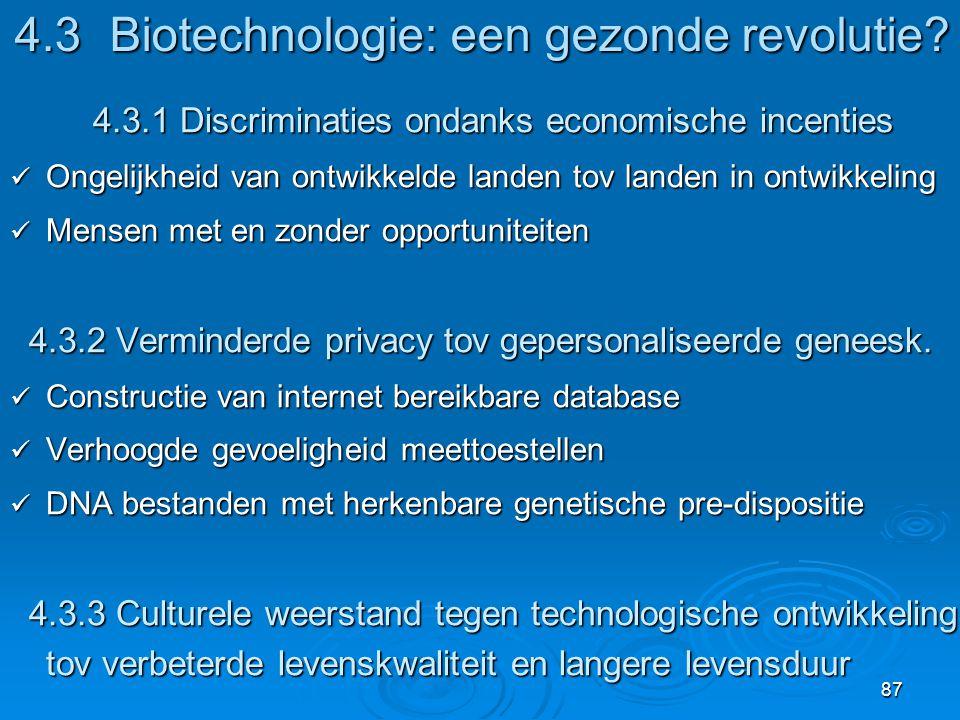 4.3 Biotechnologie: een gezonde revolutie