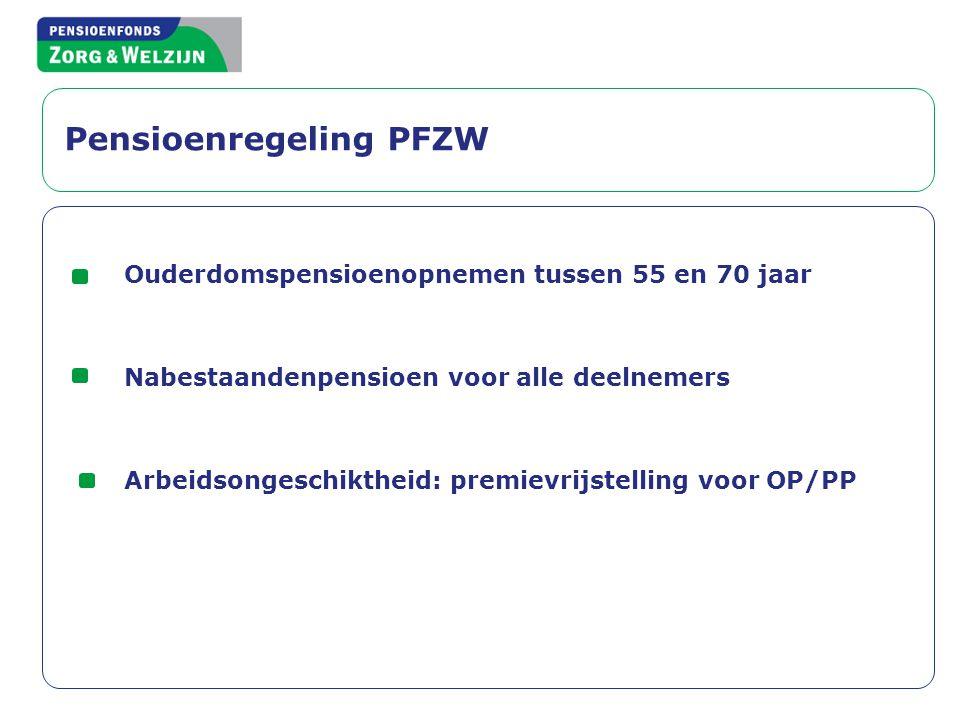 Pensioenregeling PFZW