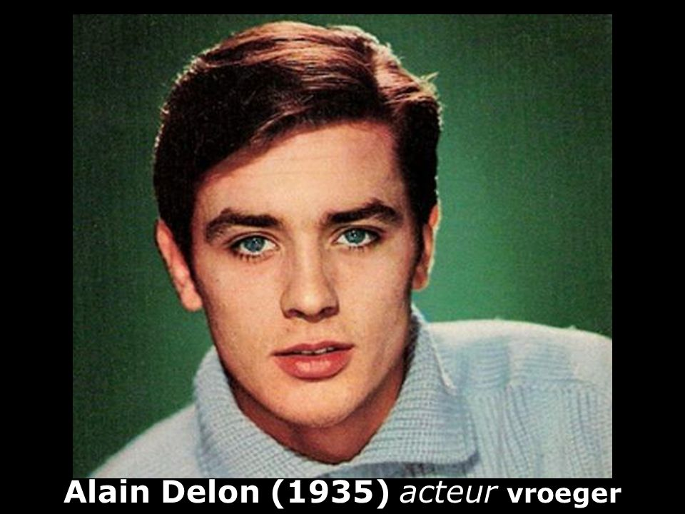 Alain Delon (1935) acteur vroeger