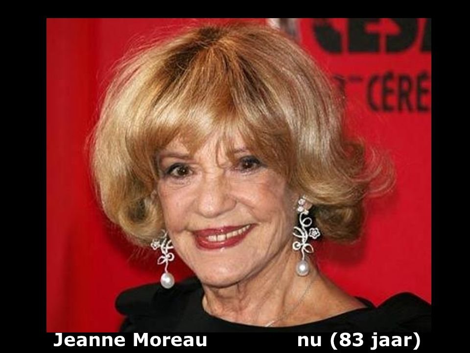Jeanne Moreau nu (83 jaar)