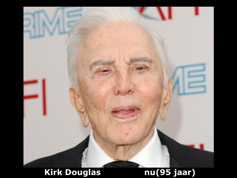 Kirk Douglas nu(95 jaar)