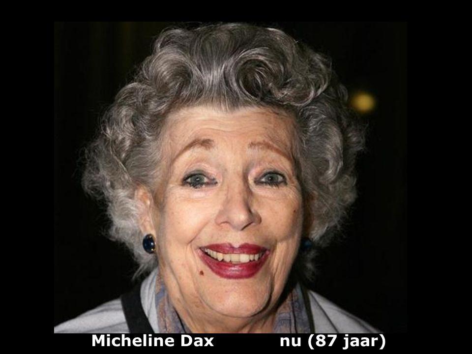 Micheline Dax nu (87 jaar)