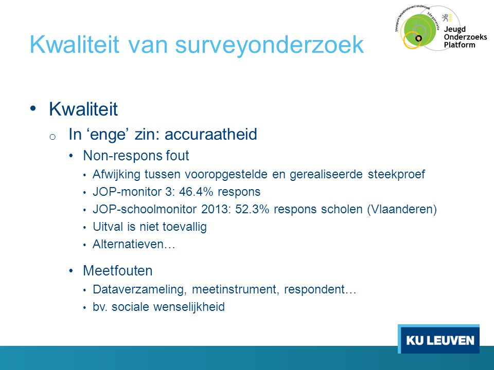 Kwaliteit van surveyonderzoek