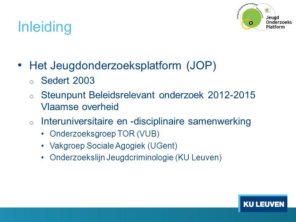 Inleiding Het Jeugdonderzoeksplatform (JOP) Sedert 2003