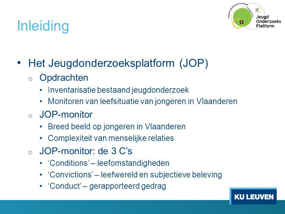 Inleiding Het Jeugdonderzoeksplatform (JOP) Opdrachten JOP-monitor