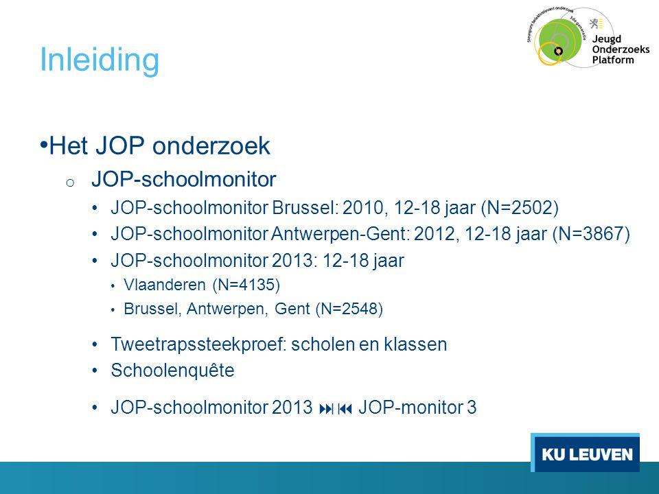 Inleiding Het JOP onderzoek JOP-schoolmonitor