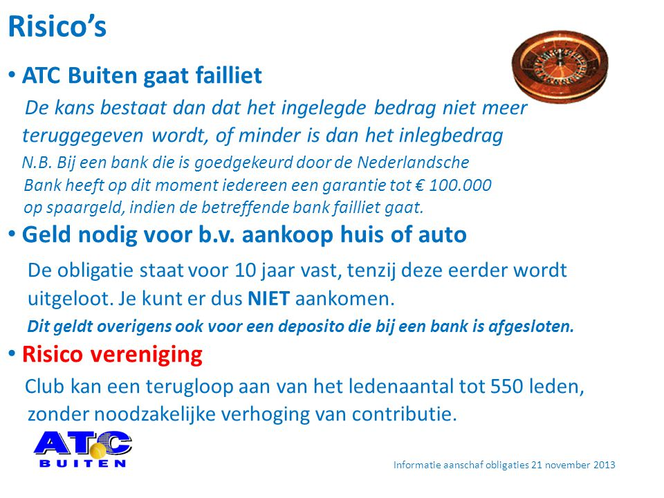Informatie aanschaf obligaties 21 november 2013