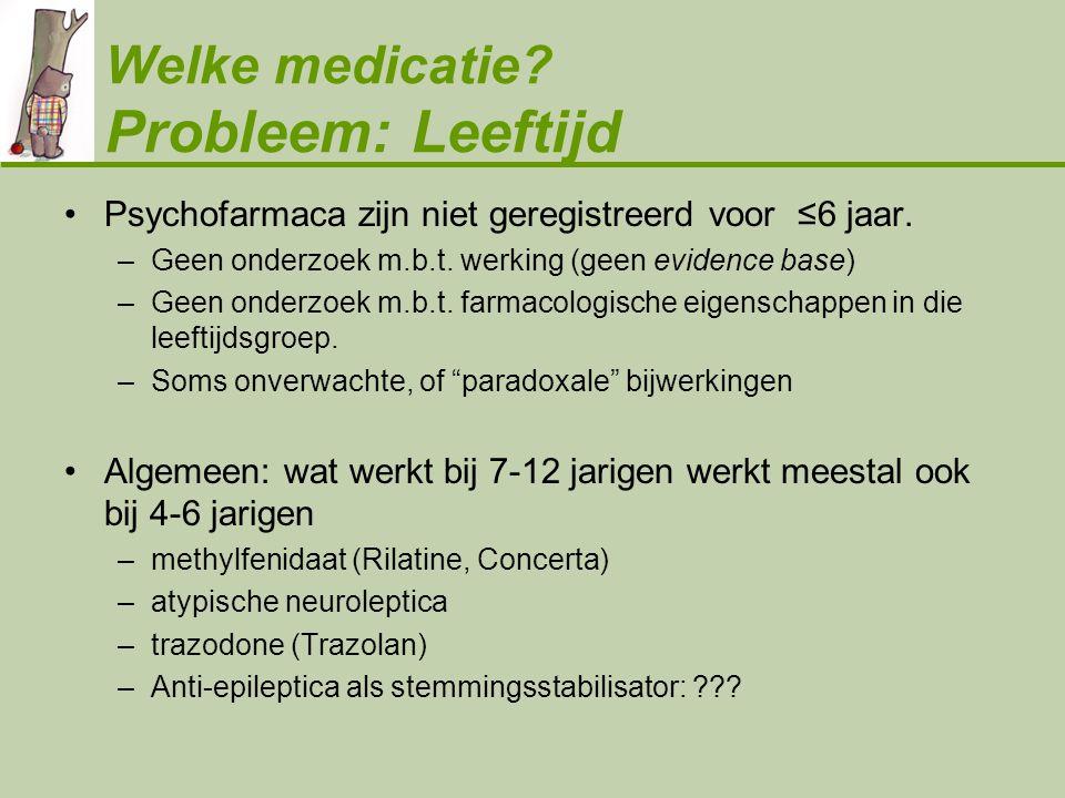 Welke medicatie Probleem: Leeftijd