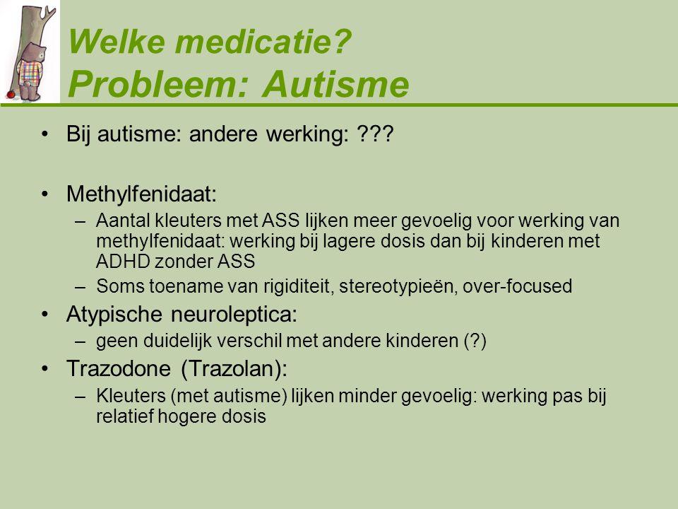 Welke medicatie Probleem: Autisme