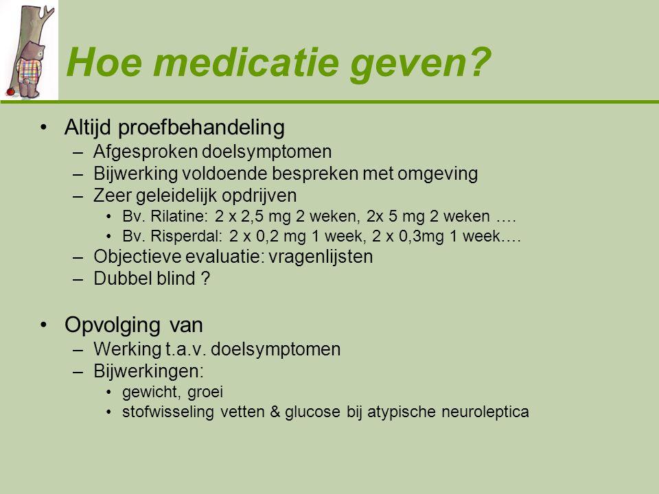 Hoe medicatie geven Altijd proefbehandeling Opvolging van