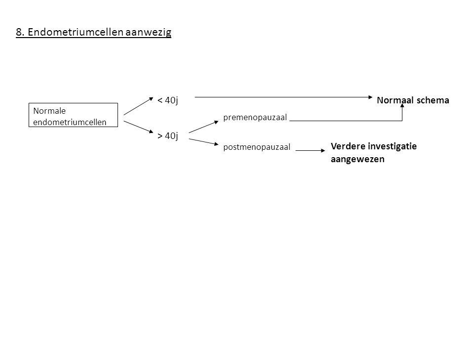 8. Endometriumcellen aanwezig