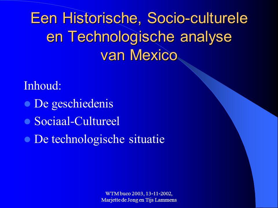Een Historische, Socio-culturele en Technologische analyse van Mexico