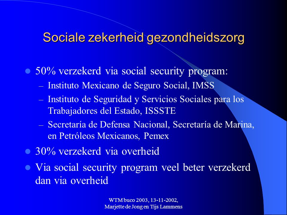 Sociale zekerheid gezondheidszorg