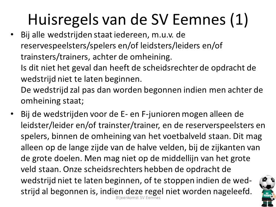 Huisregels van de SV Eemnes (1)