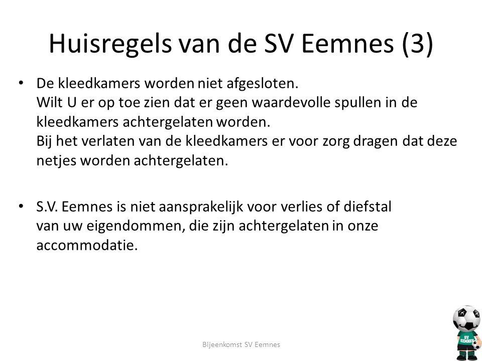 Huisregels van de SV Eemnes (3)
