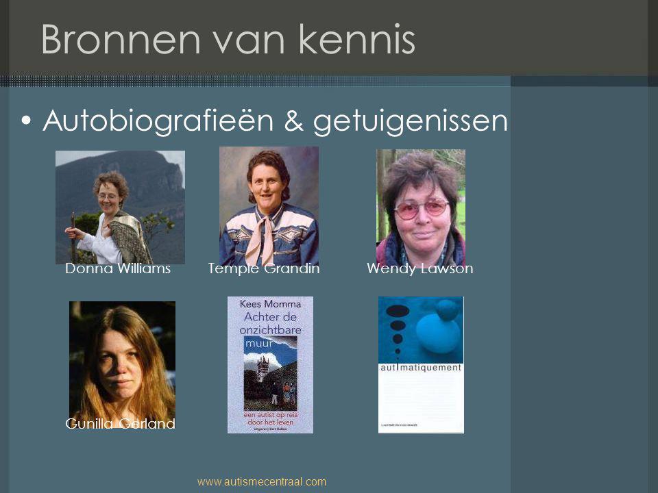 Bronnen van kennis Autobiografieën & getuigenissen Donna Williams