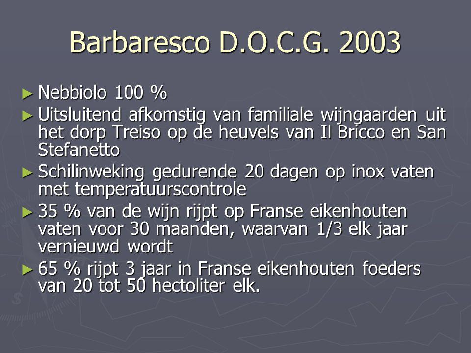 Barbaresco D.O.C.G. 2003 Nebbiolo 100 %