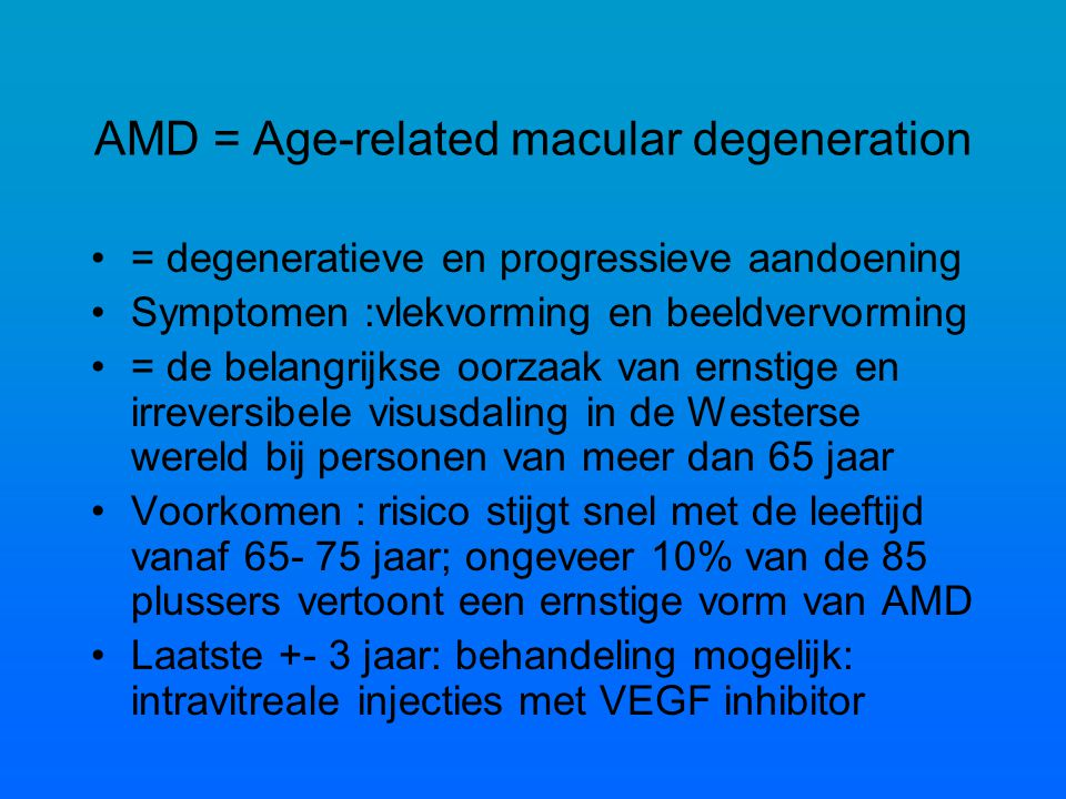 AMD = Age-related macular degeneration