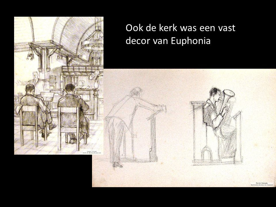 Ook de kerk was een vast decor van Euphonia
