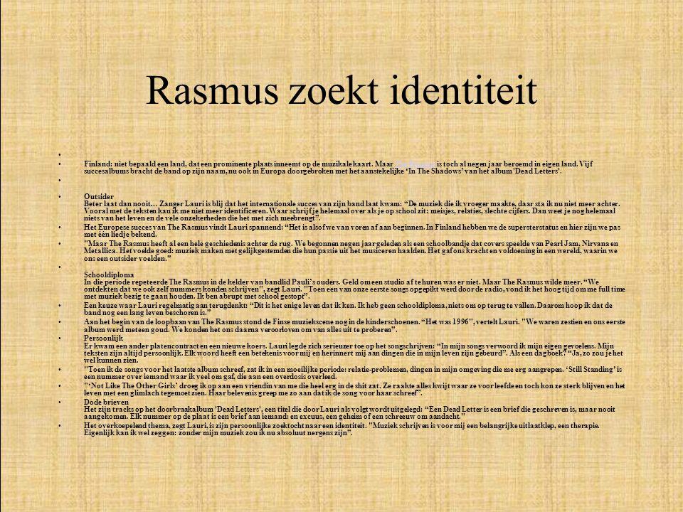 Rasmus zoekt identiteit