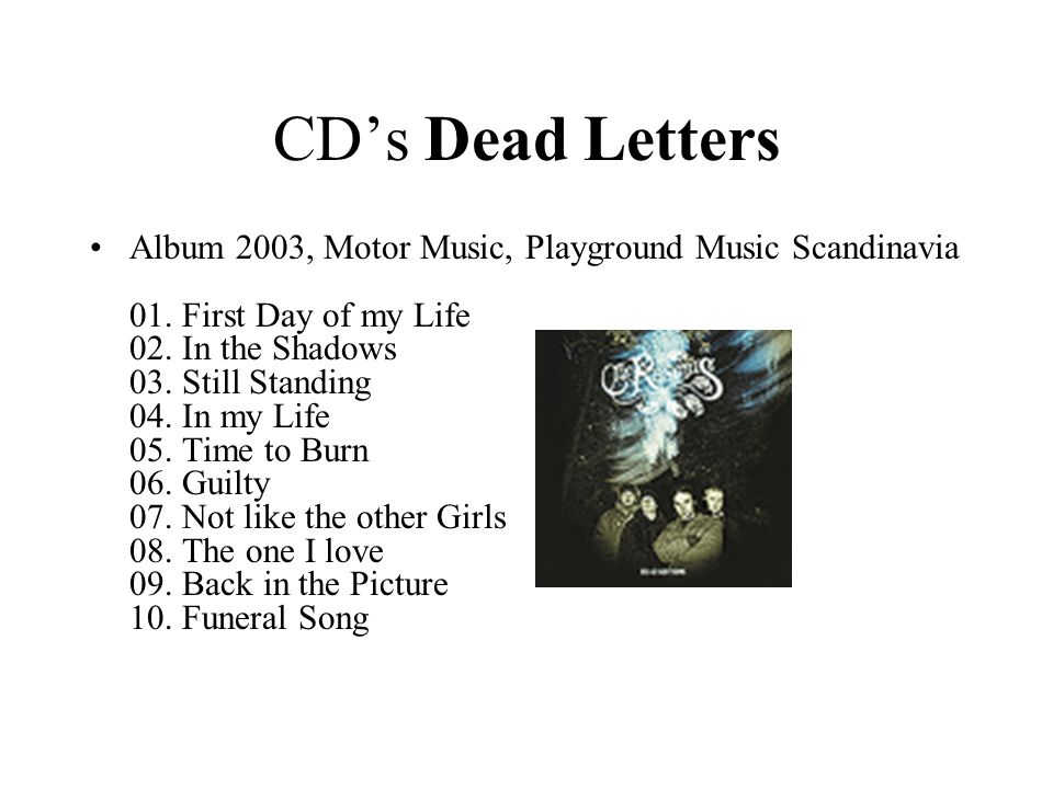 CD's Dead Letters