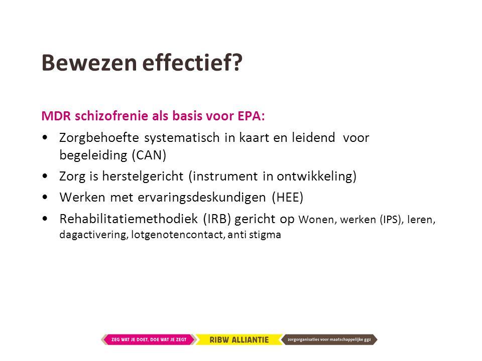 Bewezen effectief MDR schizofrenie als basis voor EPA: