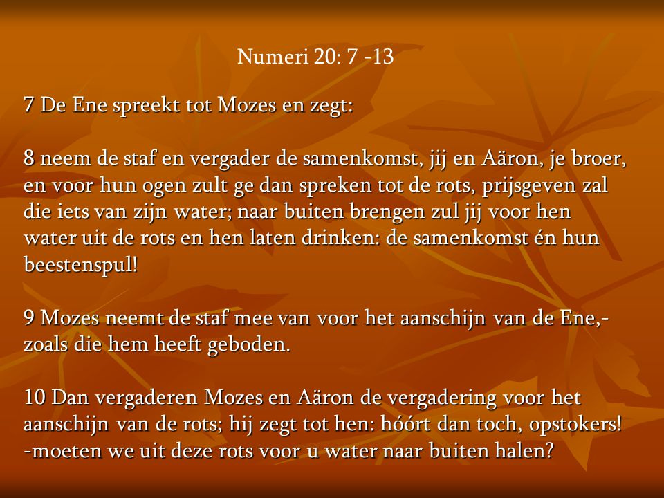 Numeri 20: 7 -13
