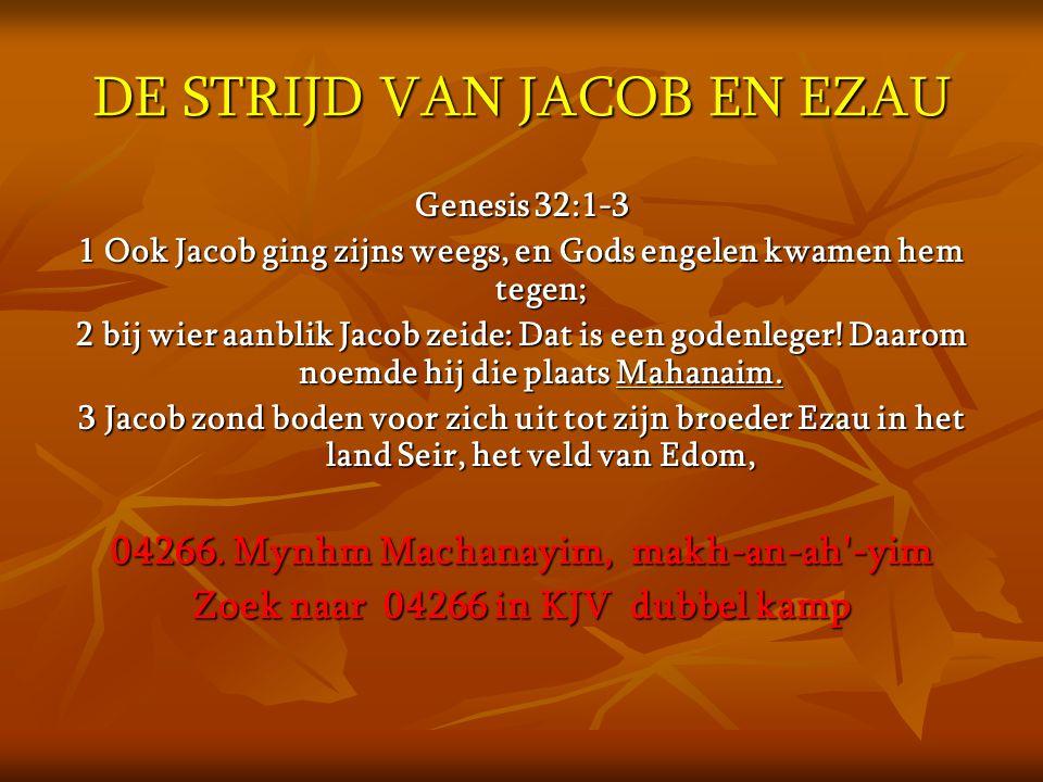 DE STRIJD VAN JACOB EN EZAU