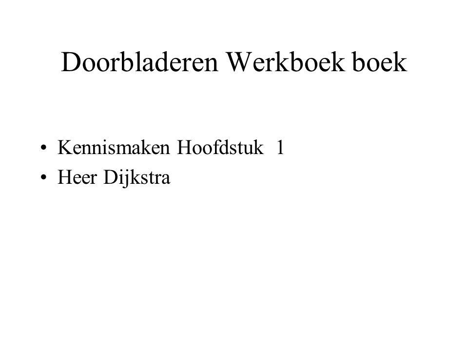 Doorbladeren Werkboek boek