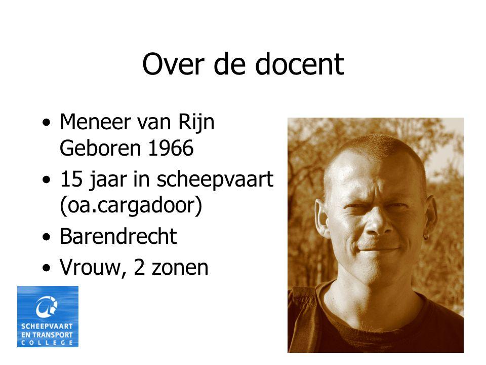 Over de docent Meneer van Rijn Geboren 1966