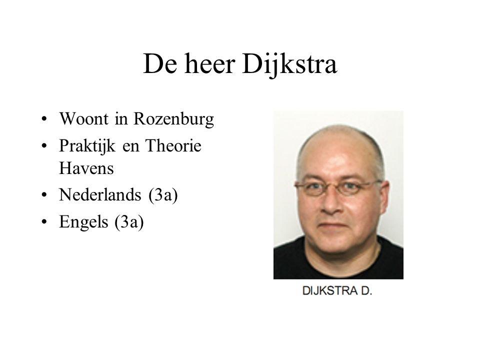 De heer Dijkstra Woont in Rozenburg Praktijk en Theorie Havens