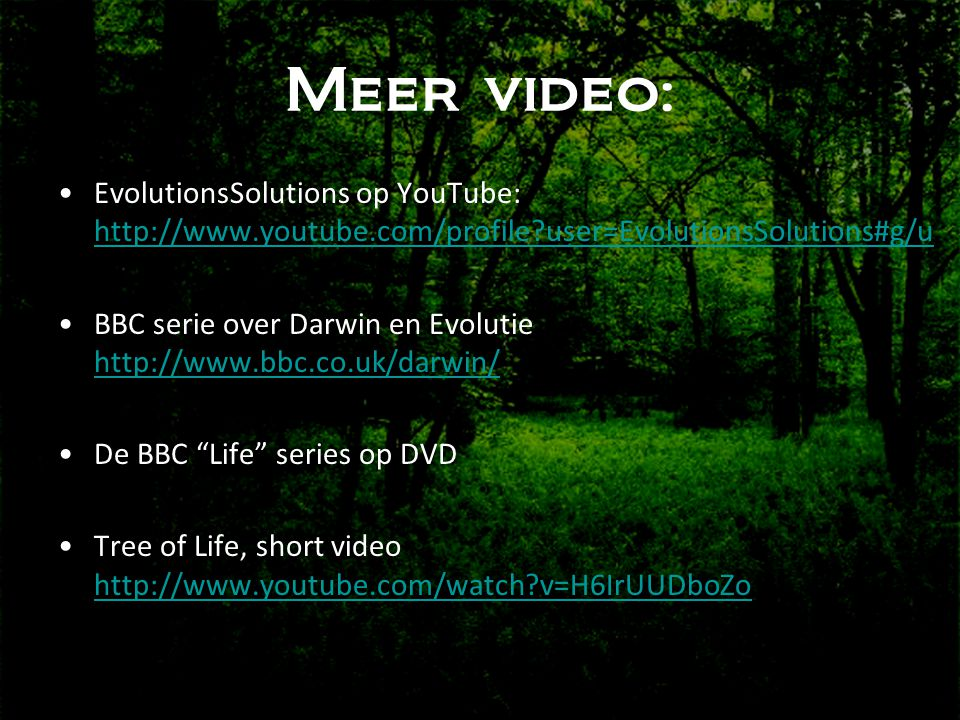 Meer video: EvolutionsSolutions op YouTube:   user=EvolutionsSolutions#g/u.