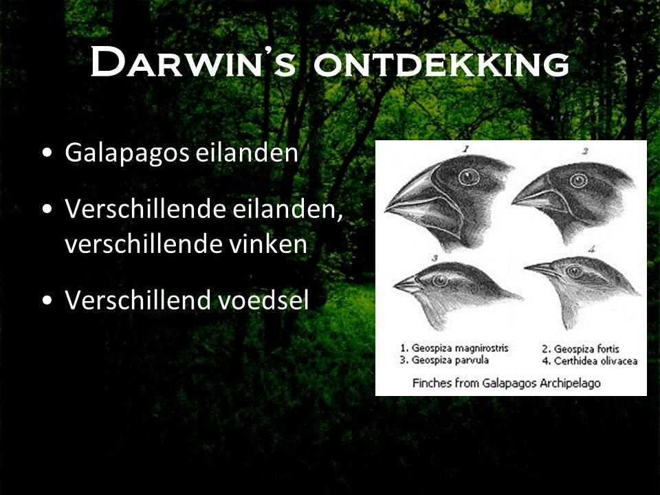 Darwin's ontdekking Galapagos eilanden