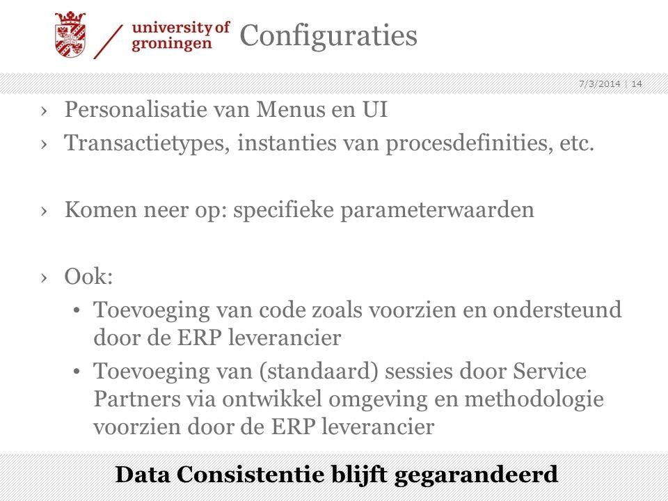 Data Consistentie blijft gegarandeerd