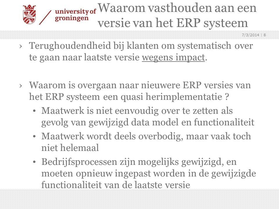 Waarom vasthouden aan een versie van het ERP systeem