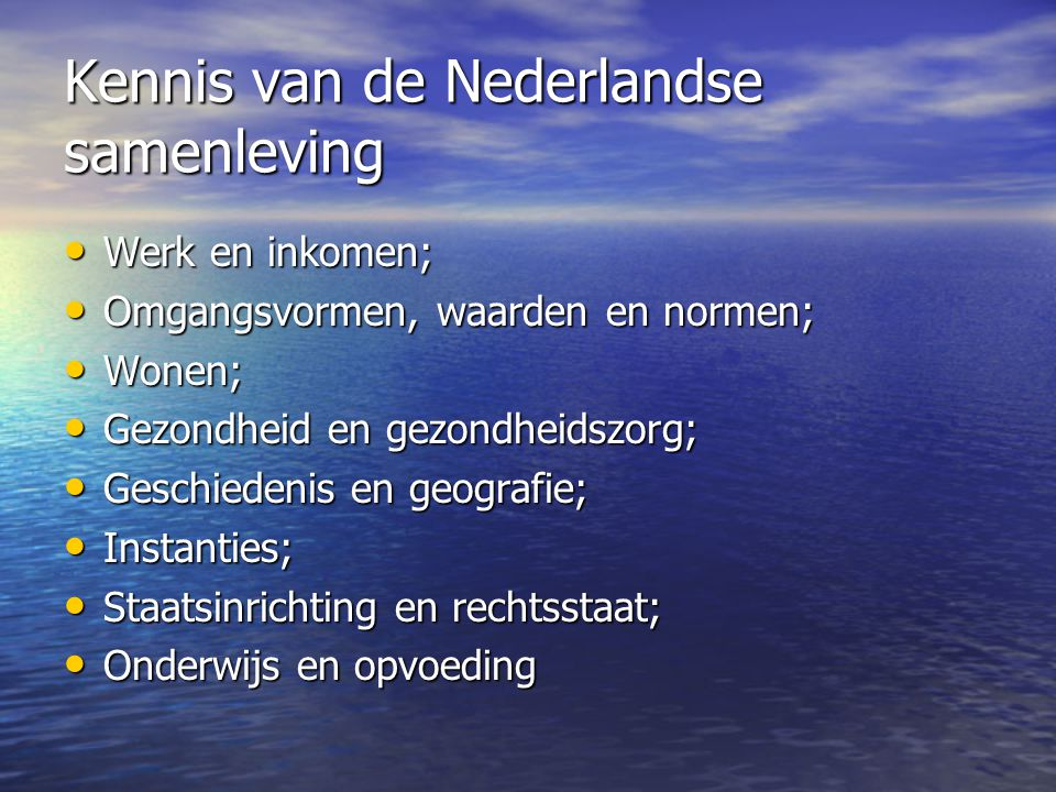 Kennis van de Nederlandse samenleving