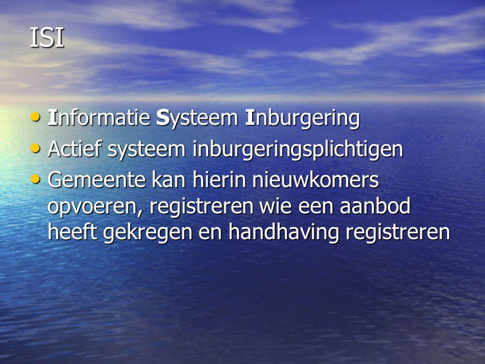 ISI Informatie Systeem Inburgering